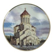 """Сувенирная тарелка """"Тбилиси"""" ручной работы на подставке арт.10374"""