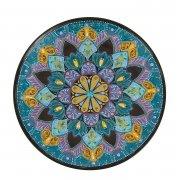Сувенирная тарелка ручной работы на подставке арт.8554