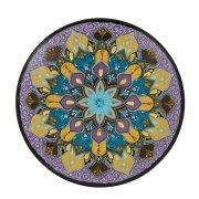 Сувенирная тарелка ручной работы на подставке арт.8555