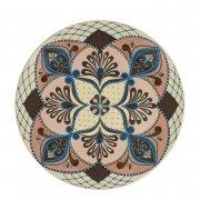 Сувенирная тарелка ручной работы на подставке арт.8556