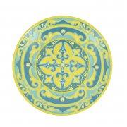 Сувенирная тарелка ручной работы на подставке арт.8559