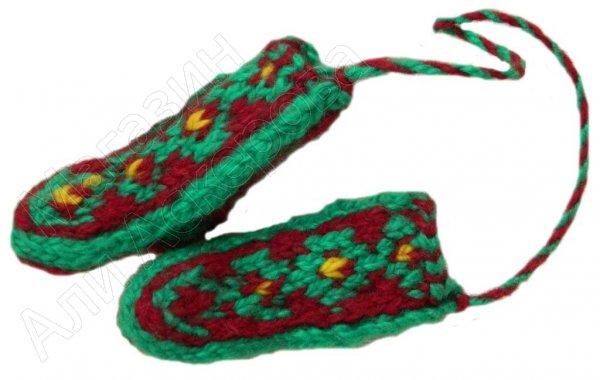 Джурабки шерстяные сувенирные зеленые