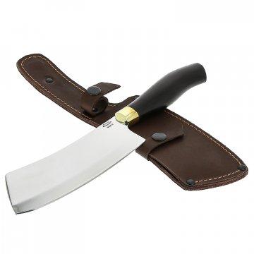 Кухонный топорик для разделки мяса Шеф (сталь 65Х13, рукоять черный граб)