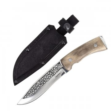 Кизлярский нож разделочный Стрепет-2 (сталь AUS-8, рукоять дерево)