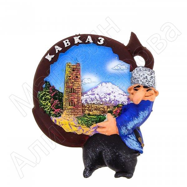 """Магнитик овальный цветной """"Кавказ"""""""