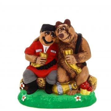 """Подарочная статуэтка """"Горец и медведь"""""""