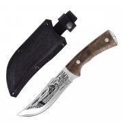 """Кизлярский нож туристический """"Рыбак-2"""" (сталь - AUS-8, рукоять - дерево) арт.4093"""
