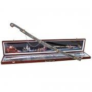 Кубачинский подарочный набор в футляре (шашка с позолоченными вставками) арт.3547