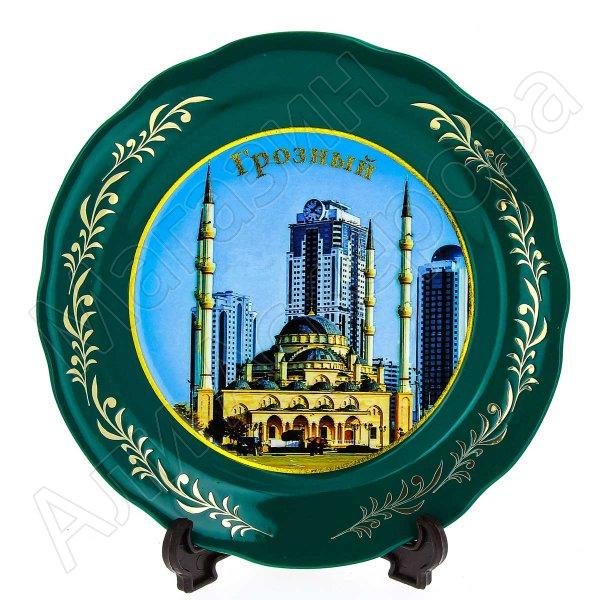 """сувенирная тарелка """"Грозный"""" большая №5"""