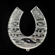 Кубачинская серебряная подкова ручной работы большая арт.1979