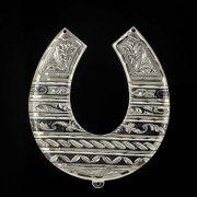 Кубачинская серебряная подкова ручной работы большая арт.1983