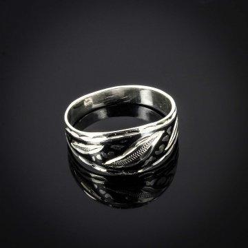 """Кубачинское серебряное кольцо ручной работы """"Счастье"""""""