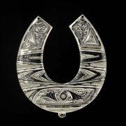 Кубачинская серебряная подкова ручной работы большая арт.2384