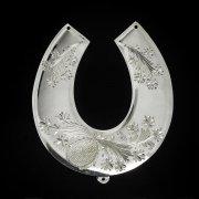 Кубачинская серебряная подкова ручной работы большая арт.2653