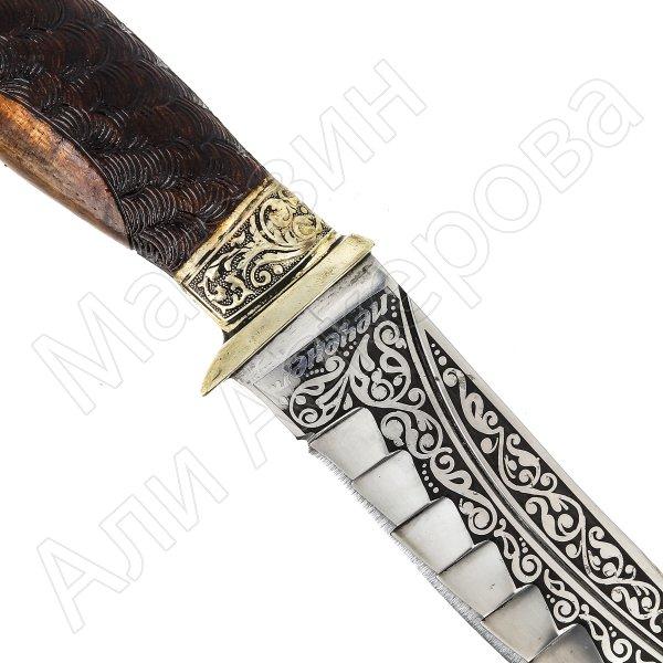 Туристический нож Печенег (сталь 65Х13, рукоять дерево)