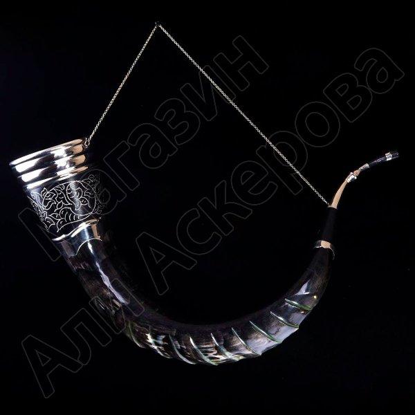 Элитный кубачинский рог кавказского тура (90-95 см)