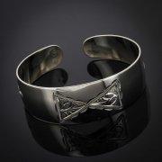 Серебряный кубачинский браслет с гравировкой арт.2935