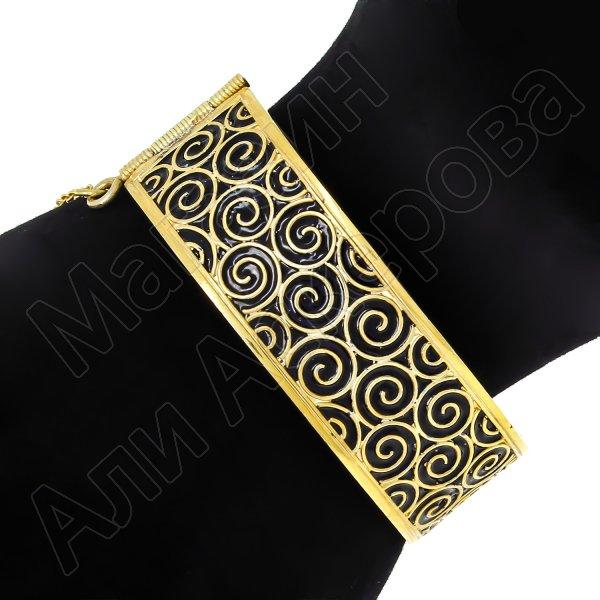 Серебряный кубачинский браслет с эмалью №2