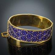 Серебряный кубачинский браслет с позолотой
