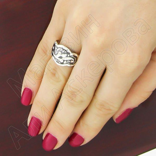 """Кубачинское серебряное кольцо ручной работы """"Джамиля"""""""
