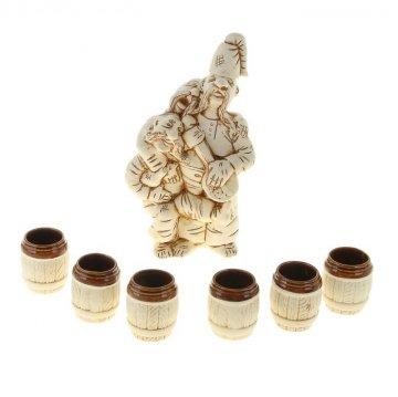 "Керамический набор для вина ""Три кума"""