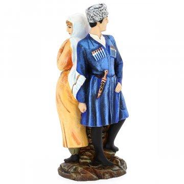 """Подарочная статуэтка ручной работы """"Встреча"""" (обожженная глина)"""