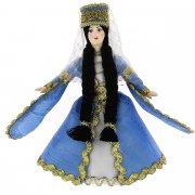 Керамическая кукла в осетинском национальном костюме (малая)