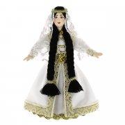 Керамическая кукла в чеченском национальном костюме (малая) №2