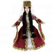 Керамическая кукла в ингушском национальном костюме (малая)