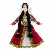 Керамическая кукла в азербайджанском национальном костюме (малая)