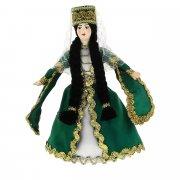 Керамическая кукла в грузинском национальном костюме (малая)