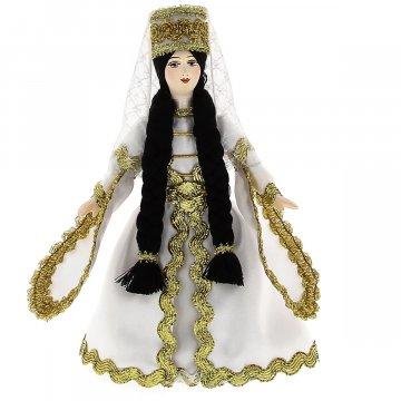 Керамическая кукла в чеченском национальном костюме (малая)