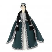 Керамическая кукла в адыгейском национальном костюме средняя №2