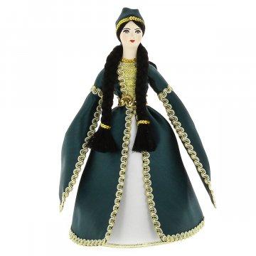 Керамическая кукла в адыгейском национальном костюме средняя №1