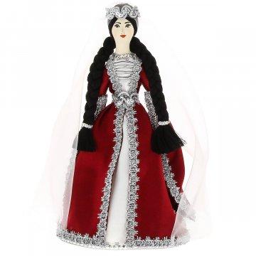 Керамическая кукла в азербайджанском национальном костюме средняя №2