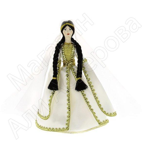 Керамическая кукла в чеченском национальном костюме средняя №1