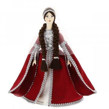 Керамическая кукла в азербайджанском национальном костюме средняя №3