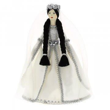 Керамическая кукла в чеченском национальном костюме средняя №2