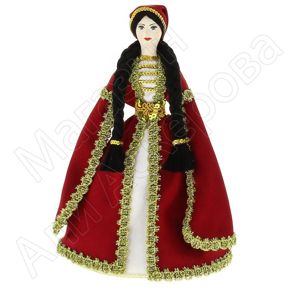Керамическая кукла в армянском национальном костюме средняя №1