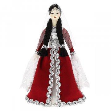 Керамическая кукла в азербайджанском национальном костюме средняя №1