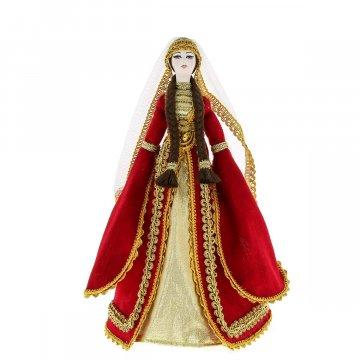 Керамическая кукла в дагестанском национальном костюме (большая №2)