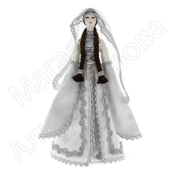 Керамическая кукла в чеченском национальном костюме (большая №3)