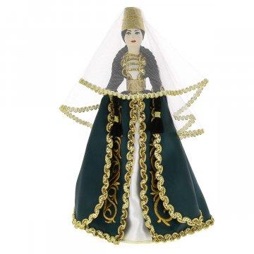 Керамическая кукла в кабардинском национальном костюме (большая №2)