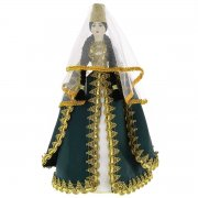 Керамическая кукла в кабардинском национальном костюме (большая №3)