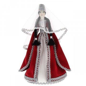 Керамическая кукла в Азербайджанском национальном костюме (большая№2)