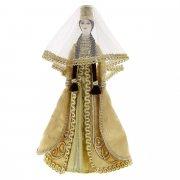 Керамическая кукла в осетинском национальном костюме (большая №2)