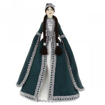 Керамическая кукла в адыгейском национальном костюме (большая №4)