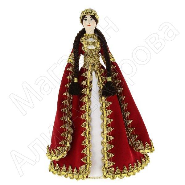 Керамическая кукла в дагестанском национальном костюме (большая)