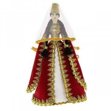Керамическая кукла в кабардинском национальном костюме (большая)