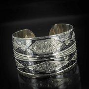 Серебряный кубачинский браслет с чернением арт.497